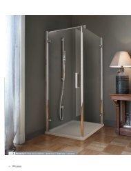 Porta doccia a battente + parete fissa / Hinged door + ... - Novellini