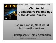Chapter 14 Comparative Planetology of the Jovian Planets Saturn ...