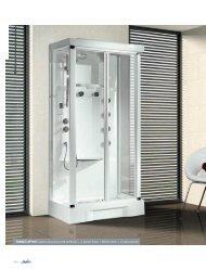 TANGO 2F100 Cabina doccia porta soffietto + 2 pareti ... - Novellini
