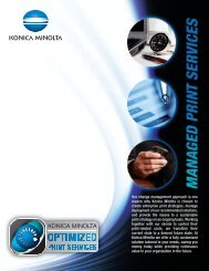 Our change management approach is one reason why Konica ...