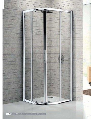 ref. 2 Lunes R Quadrant shower enclosure, 2 sliding + 2 ... - Novellini