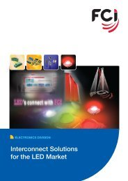 Interconnect Solutions for the LED Market - FCI