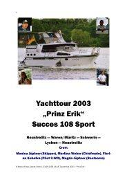 Tourbericht 2003
