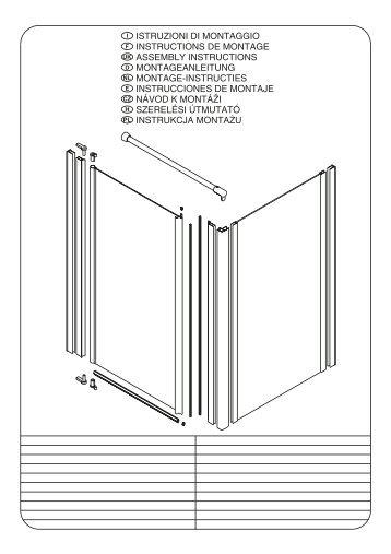 istruzioni di montaggio instructions de montage assembly ... - Novellini