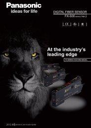 FX-500 Catalog - Panasonic Electric Works Corporation of America