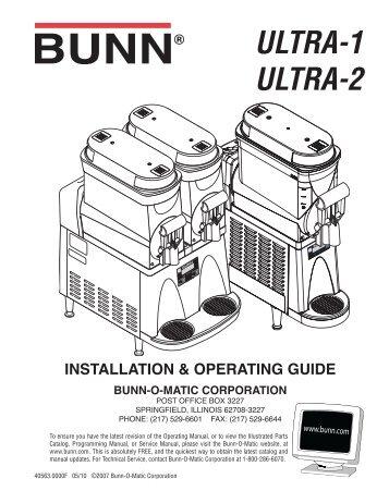 ultra 1 ultra 2 installation operating guide bunn o matic corporation rh yumpu com RE4 U3 Yamaha U3