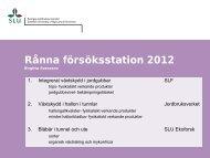 Rånna försöksstation 2012 Birgitta Svensson