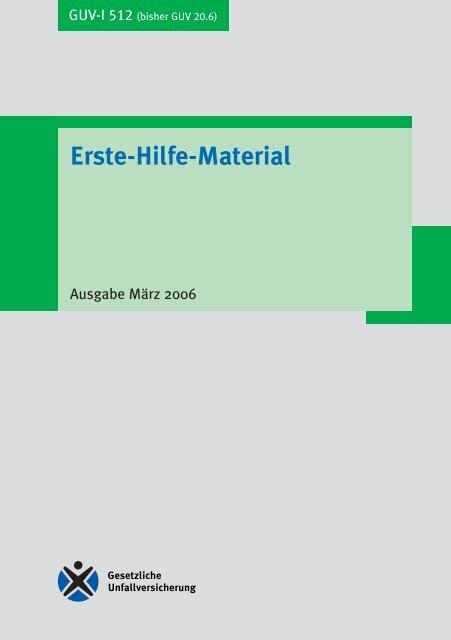 guv information erste hilfe material guv i 512 drk stuttgart. Black Bedroom Furniture Sets. Home Design Ideas