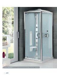 GLAX 3 GF80/GF90 Porte G+F (la paroi de douche est ... - Novellini