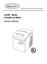 Al-200 Series Portable Ice Maker Owner's Manual - NewAir