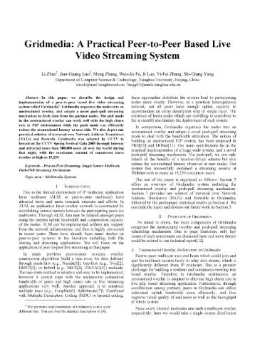 A Practical Peer-to-Peer Based Live Video Streaming System