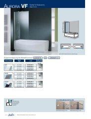 AURORA VF Festteil für Badewanne Glas 6 mm 1A 1B 1K - Novellini