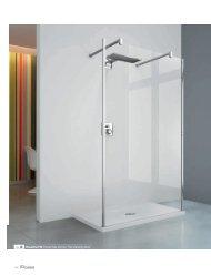 ref. 2 Kuadra H3 Parete fissa doccia / Free standing panel - Novellini