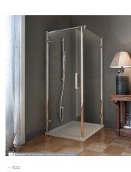 ref. 3 Murano G+F - Porta doccia a battente + parete fissa ... - Novellini
