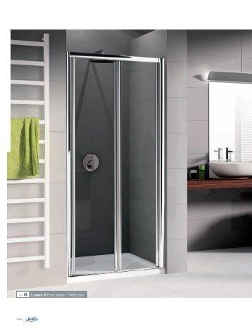 ref. 8 Lunes S Porte pliante / Folding door - Novellini