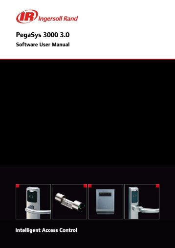 Software technical manual (pdf, 4.22MB) - PegaSys - Ingersoll Rand