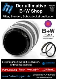 B+W Filterpreise zum Download - bei Foto Huppert