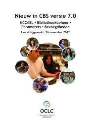 Nieuw in CBS versie 7.0 - OCLC