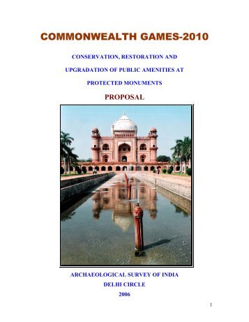 COMMONWEALTH GAMES-2010 - Archaeological Survey of India
