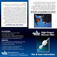 High Output Shower Filter - Air & Water