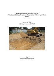 An Archaeological Watching Brief at The Marehill Waste Treatment ...