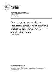 Screeninginstrument för att identifiera patienter där långvarig smärta ...