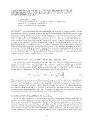 vlbi observations of nutation, its geophysical excitations - Geodetic ...