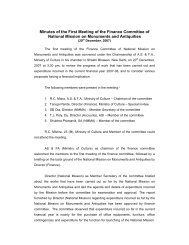 Minutes of finance committee - Archaeological Survey of India
