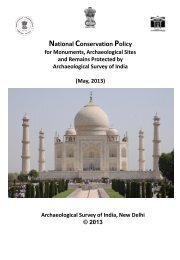 draft conservation policy - Archaeological Survey of India