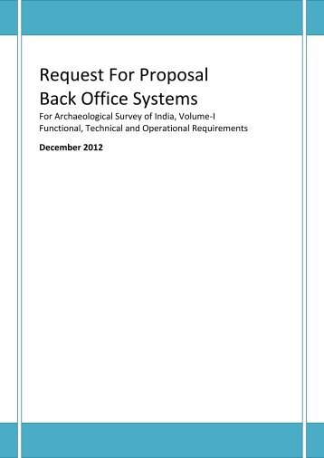 Request For Proposal Back Office Systems - Archaeological Survey ...