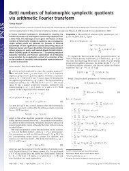 Betti numbers of holomorphic symplectic quotients via ... - GEOM