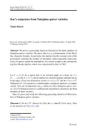 Kac's conjecture from Nakajima quiver varieties - GEOM