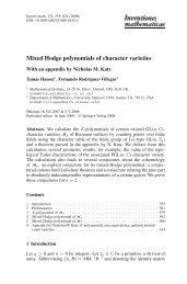Mixed Hodge polynomials of character varieties - GEOM