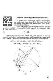 Talpponti háromszög és konvergens sorozatok - GEOM