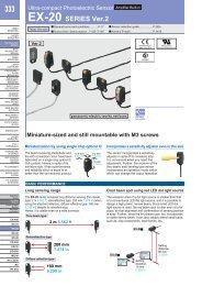 Ultra-compact Photoelectric Sensor [Amplifier Built-in] EX-20 ...