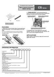 Micro coaxial connectors CS