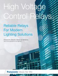 Reliable Relays For Modern Lighting Solutions - Panasonic Electric ...