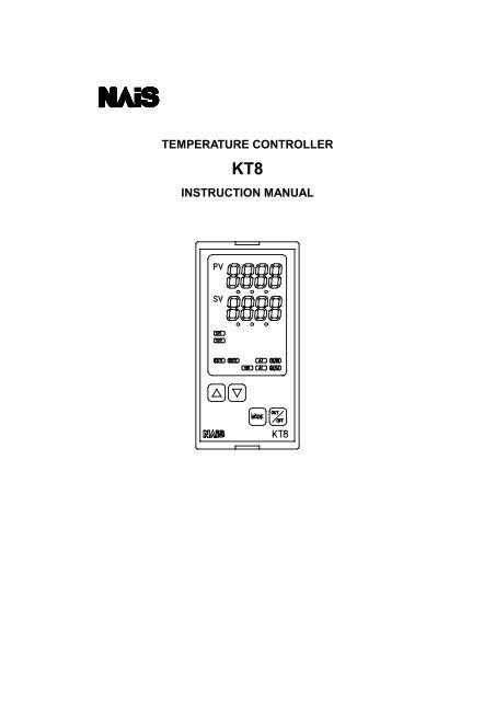 kt8 instruction manual - Panasonic Electric Works