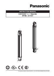 SF4B-G Instruction Manual - Panasonic Electric Works Corporation ...