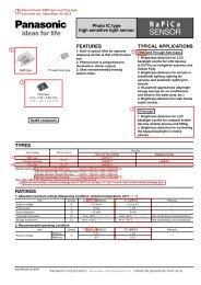NaPiCa SENSOR - Panasonic Electric Works Corporation of America