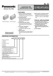 DJ RELAYS (ADJ) - Panasonic Electric Works Corporation of America