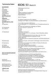 Technische Daten PDF - bei Foto Huppert