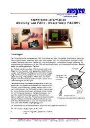 Technische Information Messung von Pahs - Messprinzip PAS2000