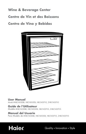 Wine & Beverage Center Centre de Vin et des ... - Home Depot