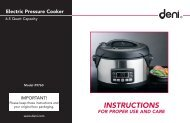 Electric Pressure Cooker - Air & Water