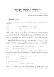 Large time behavior of solutions to the Burgers-Poisson equations 1 ...