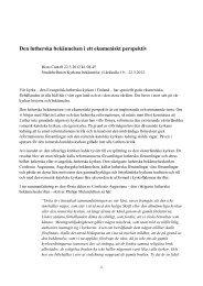 Den lutherska bekännelsen i ett ekumeniskt perspektiv - Sakasti