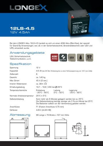 DB_Longex 12LS-4.5.indd - ChiliTec GmbH