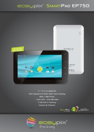 """7""""/ 17.7 cm Tablet-PC 16:9 Capacitive 5 Point Multi Touch Display ..."""