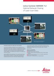 Leica Cyclone SERVER 7.2 Optimal Network Sharing of Laser Scan ...